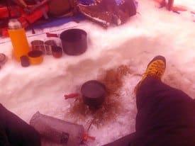 Winterzelten Ausrüstung Gefahren Tipps