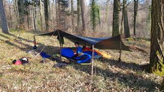 Höri Ostertour Bodensee wild Zelten