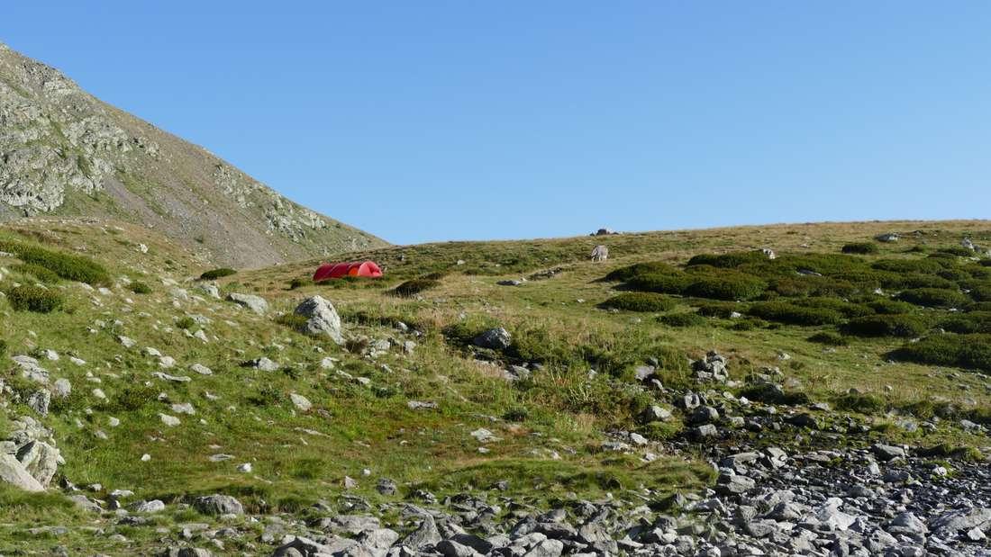 Camp am Lac Petit auf 2200m Höhe