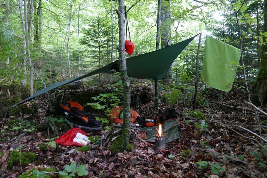 Mein 3.Camp unweit der Griessbachfälle